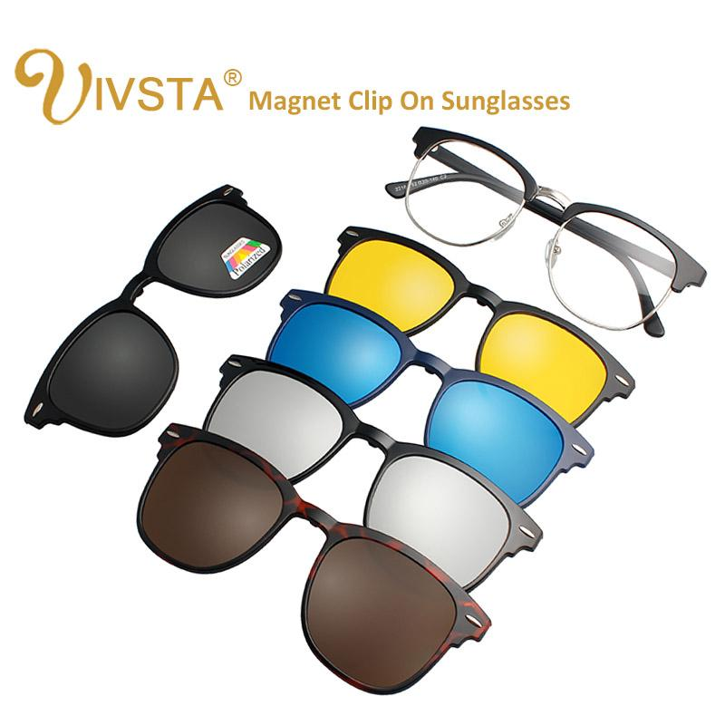 db4fa17455 Compre IVSTA 3016 Gafas Magnéticas Con Clip Magnético Clip En Gafas De Sol  Hombres Clips Polarizados Prescripción Personalizada Miopía Visión Nocturna  A ...