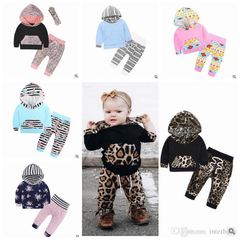 c8f0d87a3 2019 Christmas Baby Clothing Boys Striped Hoodie Set Girls Floral Print  Suit Long Sleeve Tops Pants Outfits Kids Designer Clothes ZYL1 6 From  Interbaby, ...