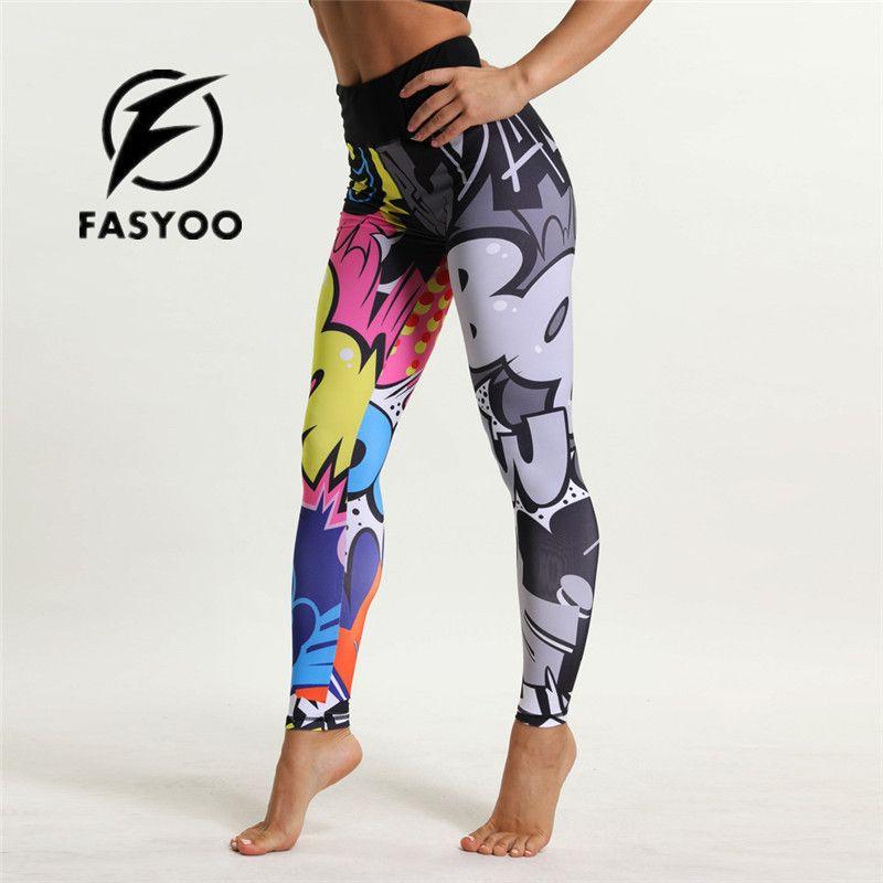 Acheter Bande Dessinée Imprimer Fille Yoga Pantalon Jogging Adolescent  Fitness Leggings Coloré Enfants Sport Pantalon Pantalon Taille Haute  D entraînement ... 24c94f57d33