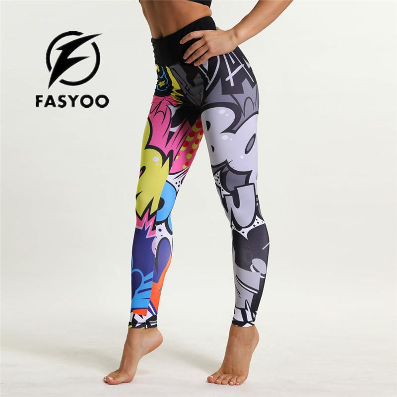 4469110f3f 2019 Cartoon Print Girl Yoga Pants Jogging Teenager Fitness Leggings  Colorful Kids Sports Trousers Pant High Waist Workout Yoga Pant From  Pretty05, ...