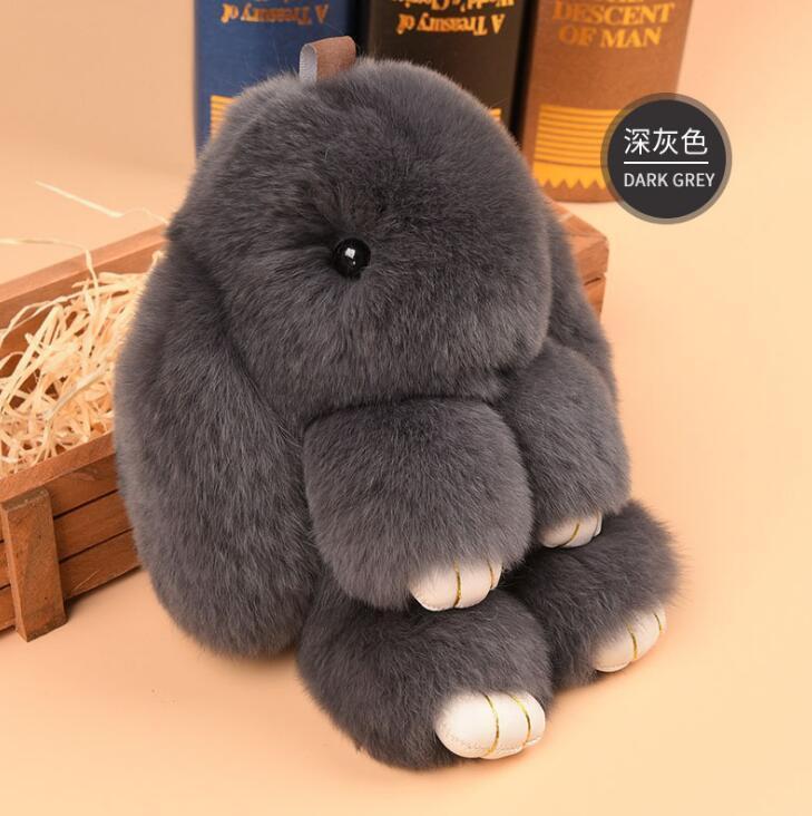 0a57b5b48 14cm Fashion Rex Rabbit Furs Monster Keychain Ring Holder Pendant Bag Car  Charm Tag Fluffy Bunny Rabbit Toy Doll Fur Keychains Leather Key Ring  Unique ...