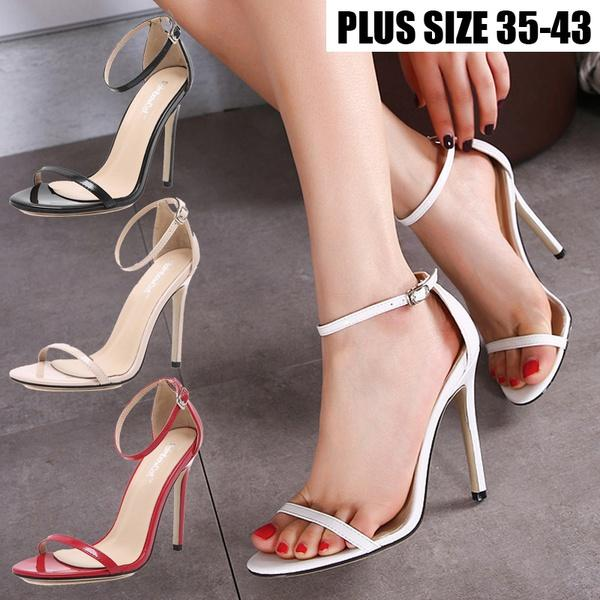 f7f583850d3 Women Sexy Heels Suede Straps Thick High Heeled Shoes Summer Party Sandals  Girls Sandals White Sandals From Indelibility