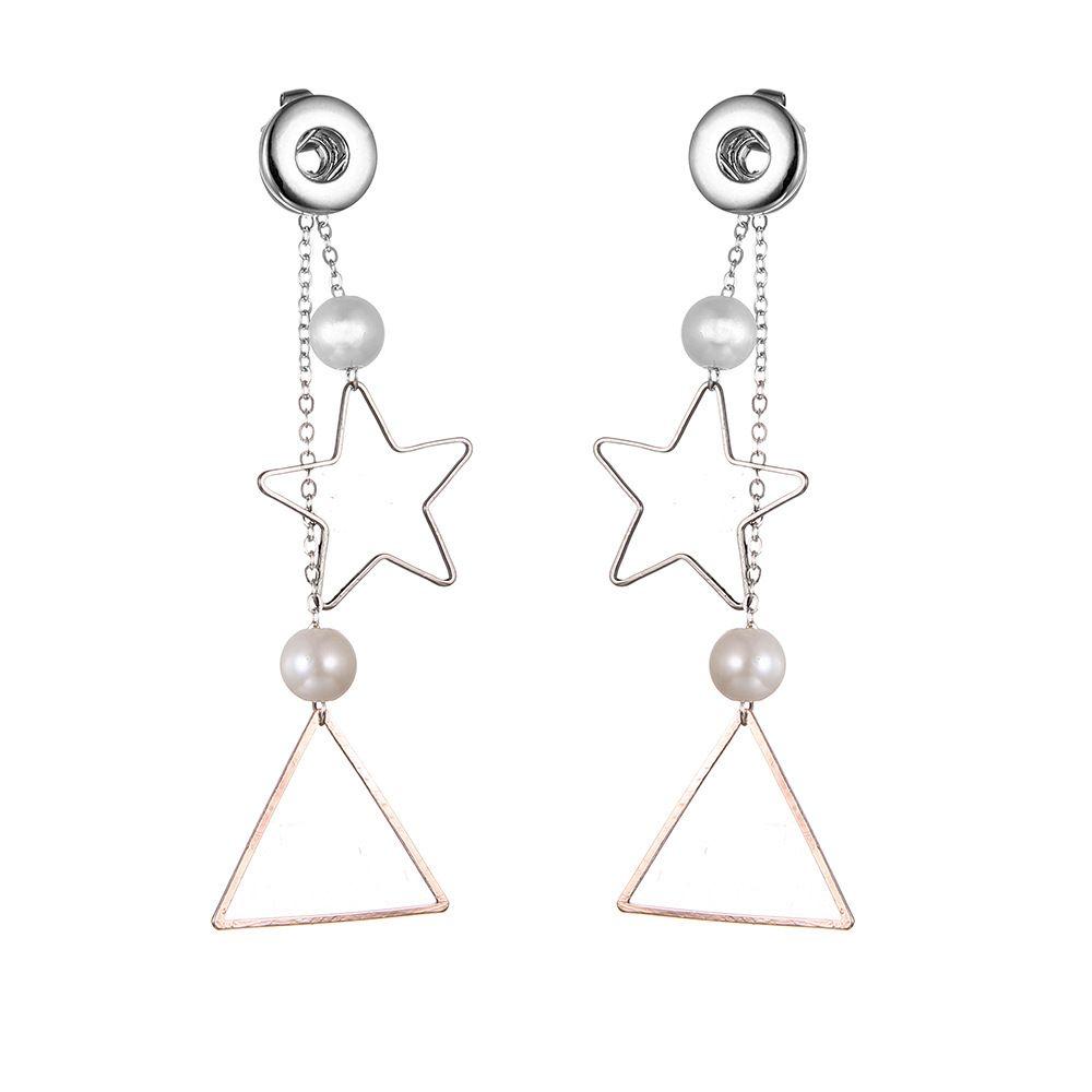 New 5 kinds NOOSA Ginger Snap Earring Button 12mm Interchangeable Jewelry NOOSA Chandelier Dangle 2018 Fashion hot