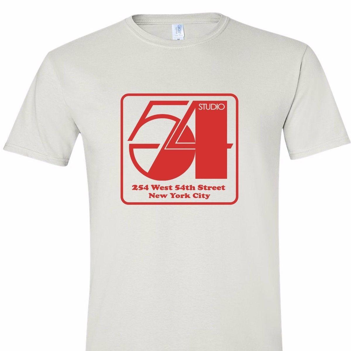 94ac15bf1 studio 54 new york disco mirror ball soul 70s 80s night club retro vintage  shirtMen'S T-Shirts Summer Style Fashion Swag Men