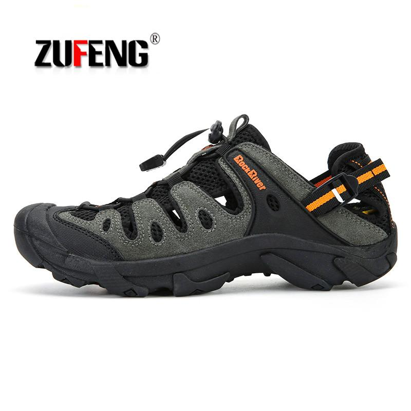 75c4521b4e7 Big Size Summer Men Hiking Shoes Outdoor Non-Slip Sandals Sneakers  Breathable Sport Shoes Man Trekking Trail Beach Water Sandals