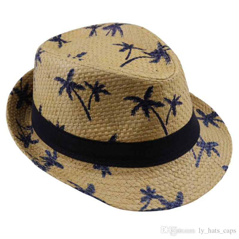 2018 Hot Sale Summer Straw Sun Hat Kids Beach Sun Hat Trilby Panama Hat  Handwork For Boy Girl Children 4 Colour Flat Bill Hats Beach Hat From  Ly hats caps 3af54bb34abc