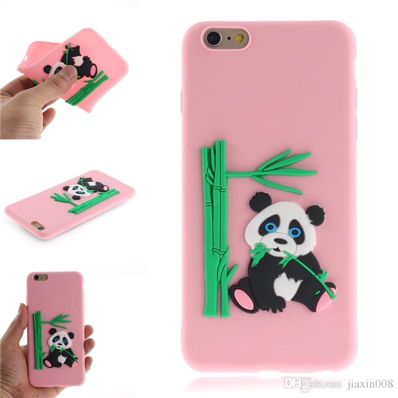 official photos ba4c6 a8418 Fashion Cover For iPhone 6 Plus 6S Plus Case Coque Candy Silicone Panda  bamboo Soft silica gel Mobile Phone Cases Shell Covers