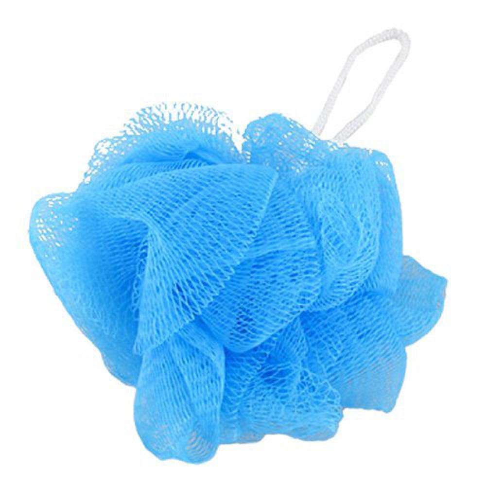 Best Mesh Soft Bath Sponge Body Pouf Shower Loop Scrubber Blue Under ...