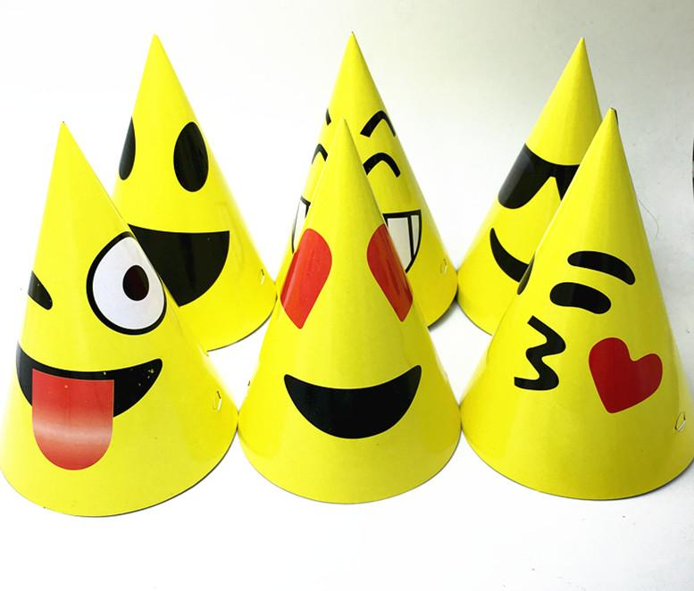 Emoji Expression Party Hats Kids Birthday Caps Baby Shower Paper 1st Hat Boy From Copy03