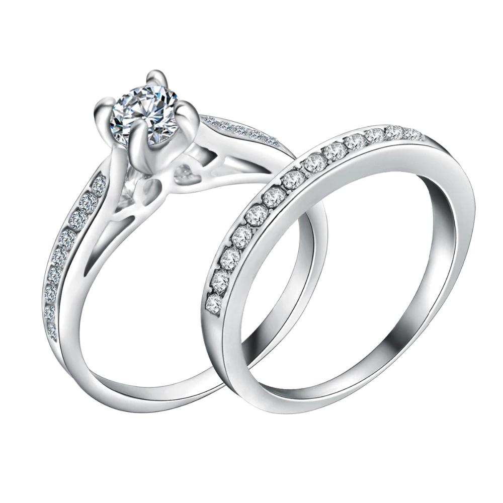 Grosshandel 20 Satz Silber Uberzogene Hochzeit Ring Shellhard Lovers