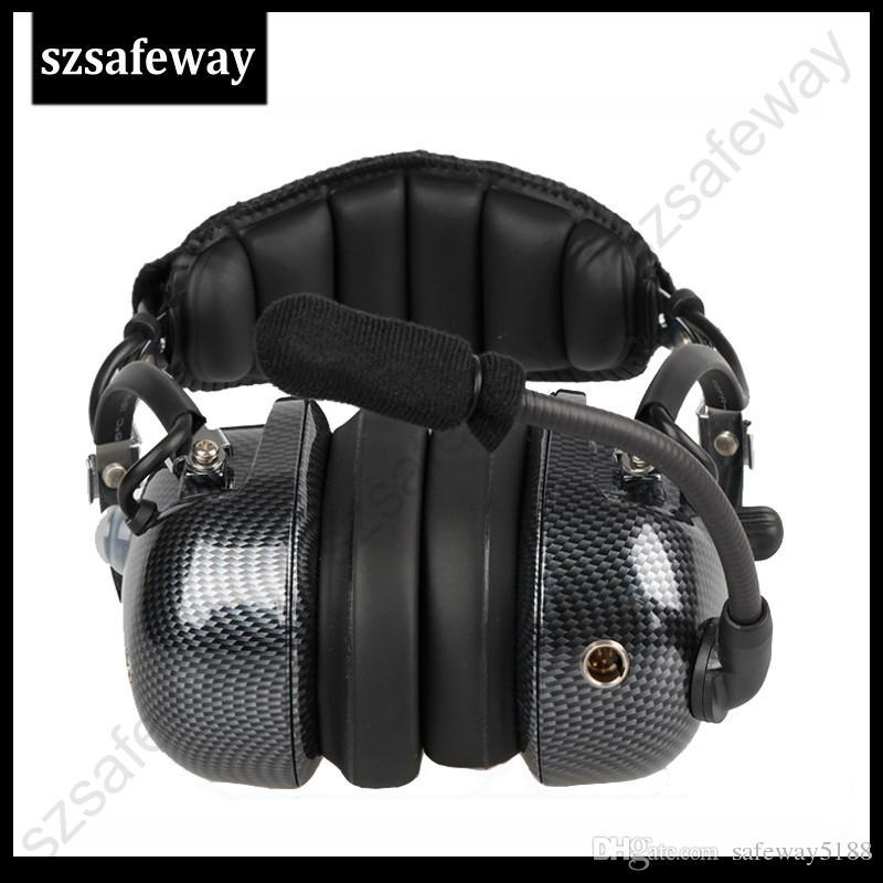 2018 Yüksek kalite ağır walkie talkie gürültü iptal kulaklık heaphone için baofeng UV-5R kenwood için iki yönlü telsiz