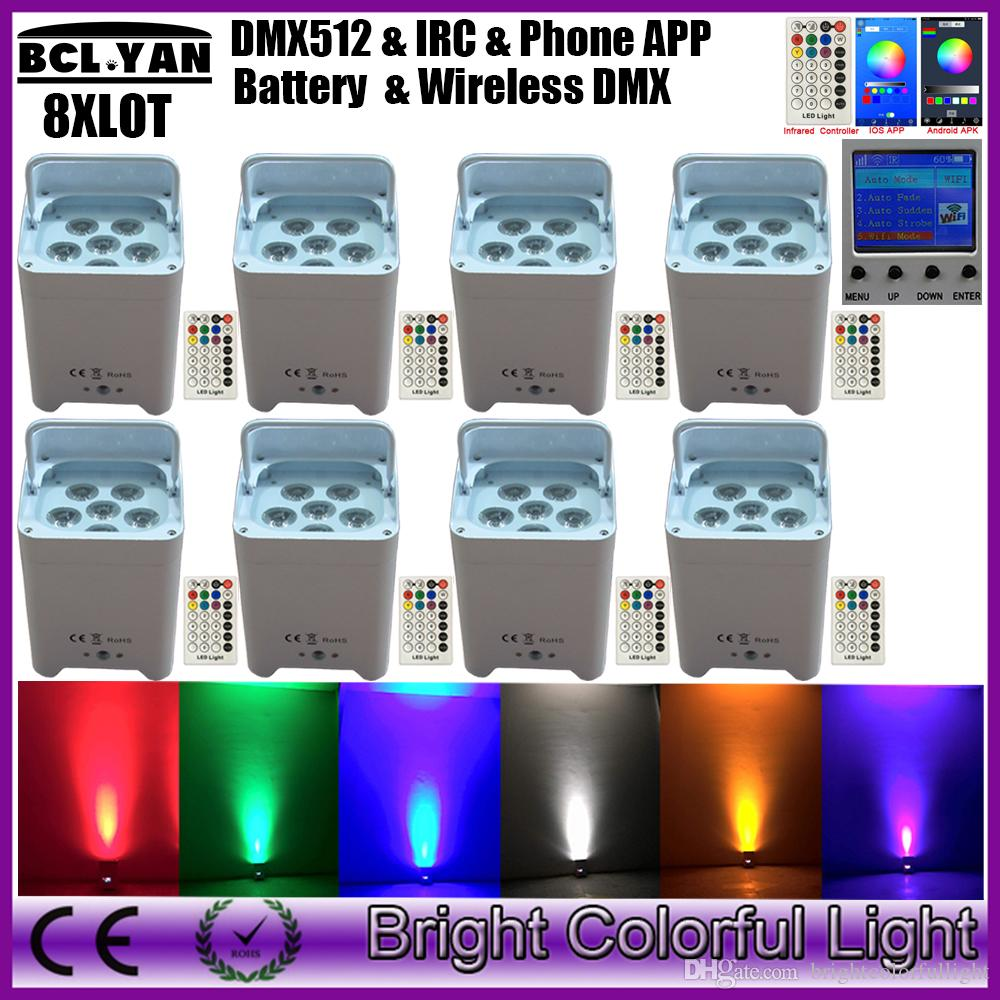 2018 8xlot Led Freedom Uplighting 6*18w 6in1 Rgbaw Uv Battery Operated  Wireless Led Par Light App Mobile From Brightcolorfullight, $1340.01 |  Dhgate.Com