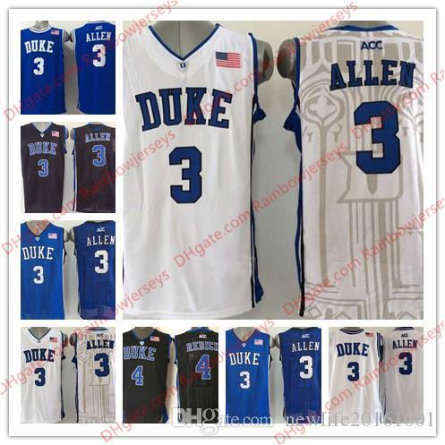 b870adf4e3c ... italy 2019 duke blue devils 3 grayson allen 4 jj redick mens college  basketball jerseys black