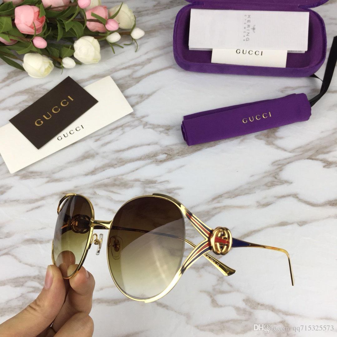 Fashion Men Women Cat Eye Sunglasses Round Alloy Frame Brand Designer  Sunglasses Classic Shades Oculos De Sol UV400 With Original Box Best  Sunglasses Dragon ... f4df6caec2