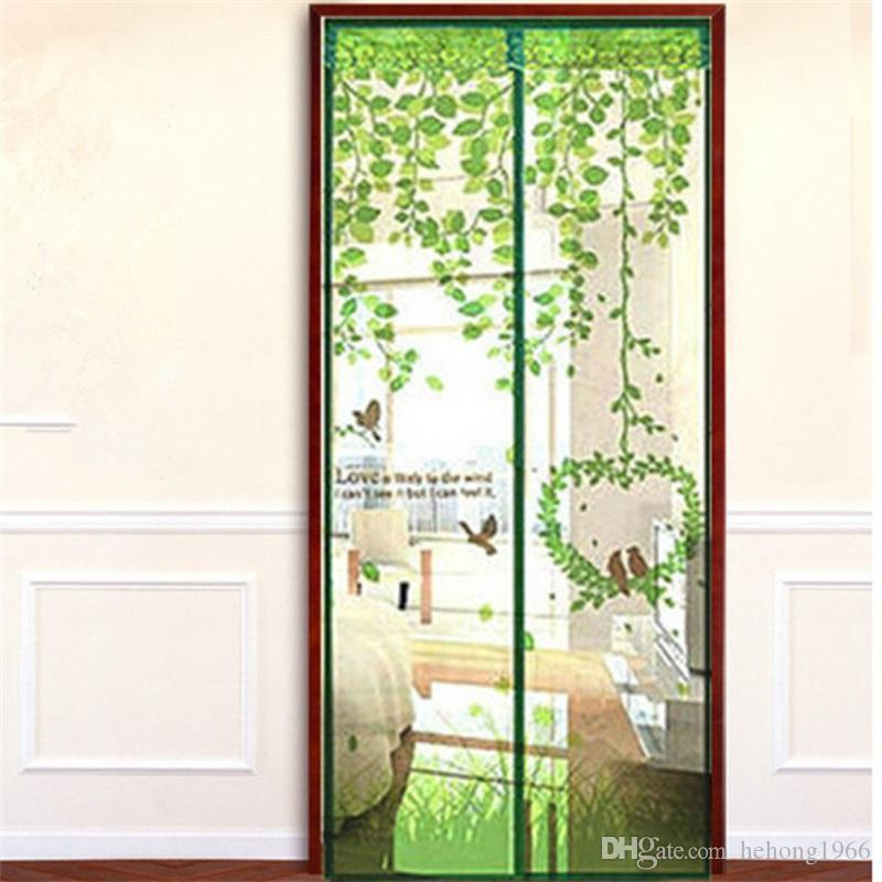 Polyester Ice Printing Window Curtains Screen Door Magnetic Soft Mosquito  Repellent Design Hanging Curtain Home Art Decor For Gift 7fh2 Ff Curtains  Hanging ...