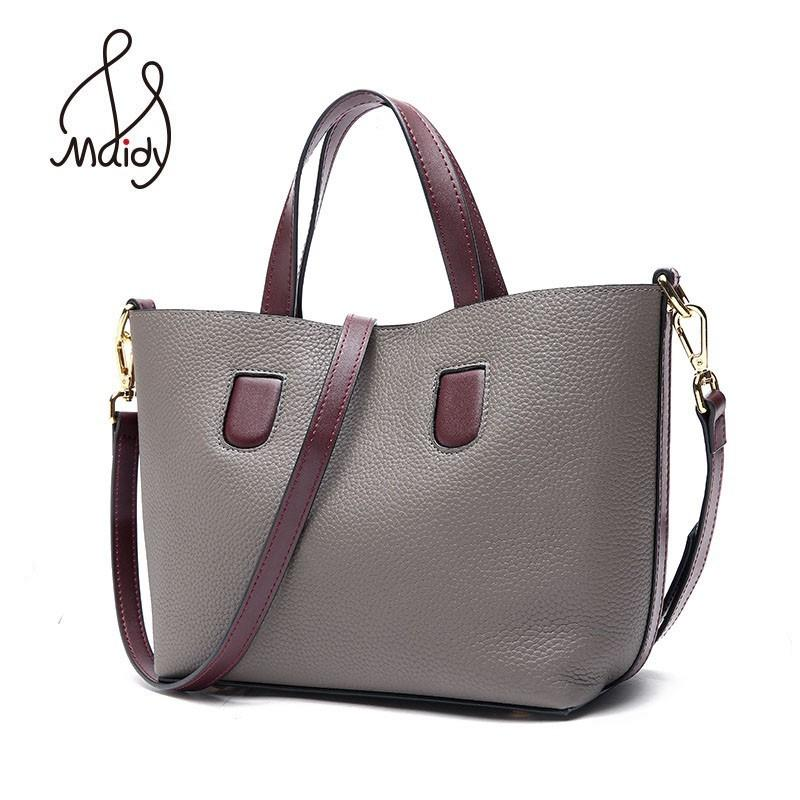 f13eae91938f Women Casual Tote Bag Female Hand Cowhide Cow Leather Messenger Shoulder  Flap Bags Crossbody Satchel Designer Handbags Maidy Leather Briefcase  Wholesale ...