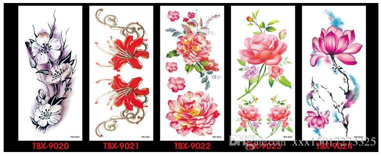Fleur Oiseau Decal Faux Femmes Hommes BRICOLAGE Henné Body Art Conception De Tatouage HB556 Branche D'arbre De Papillon Vivid Temporaire Tatouage Autocollant