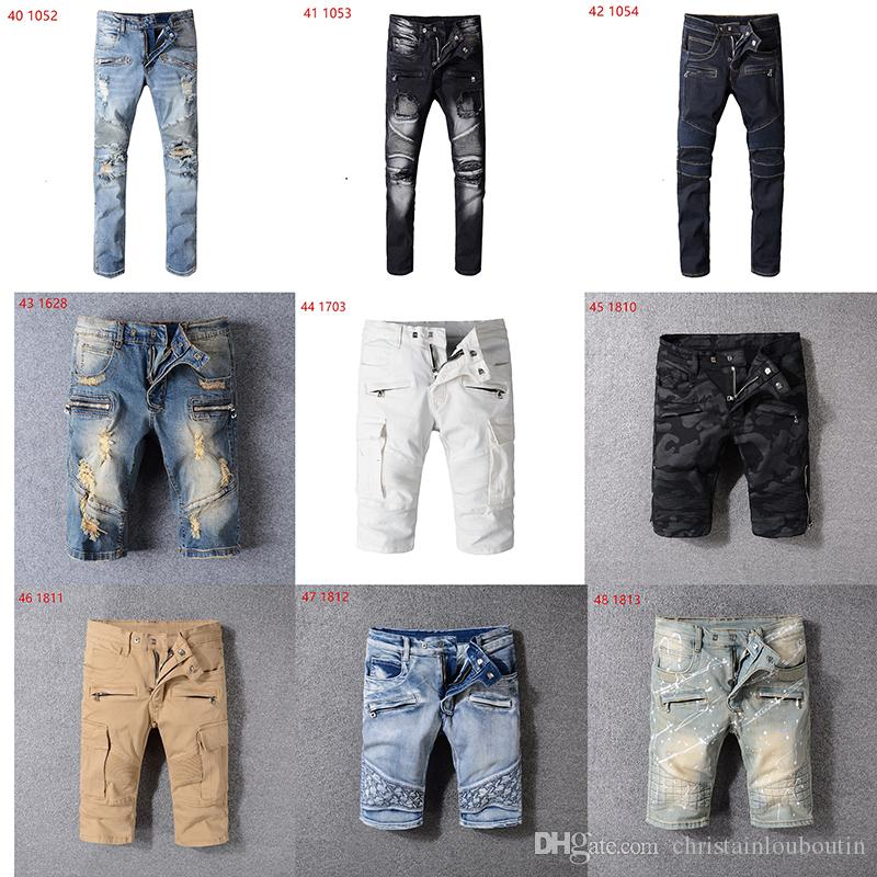 SıCAK Satış Yeni 2019 İlkbahar Ve Sonbahar Yeni erkek balmain Kot Dokuz Pantolon Sokak Tarzı Genç Trendy Rahat iç çamaşırı Erkek Moda Ince pantolon