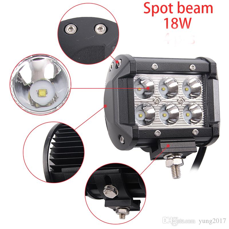 4pcs 10w Led Work Lamps 24v 12v Led Tractor Work Light For Flood Beam Spot Beam Off Road Truck 4x4 Suv 4wd Driving Lamp Car Lights