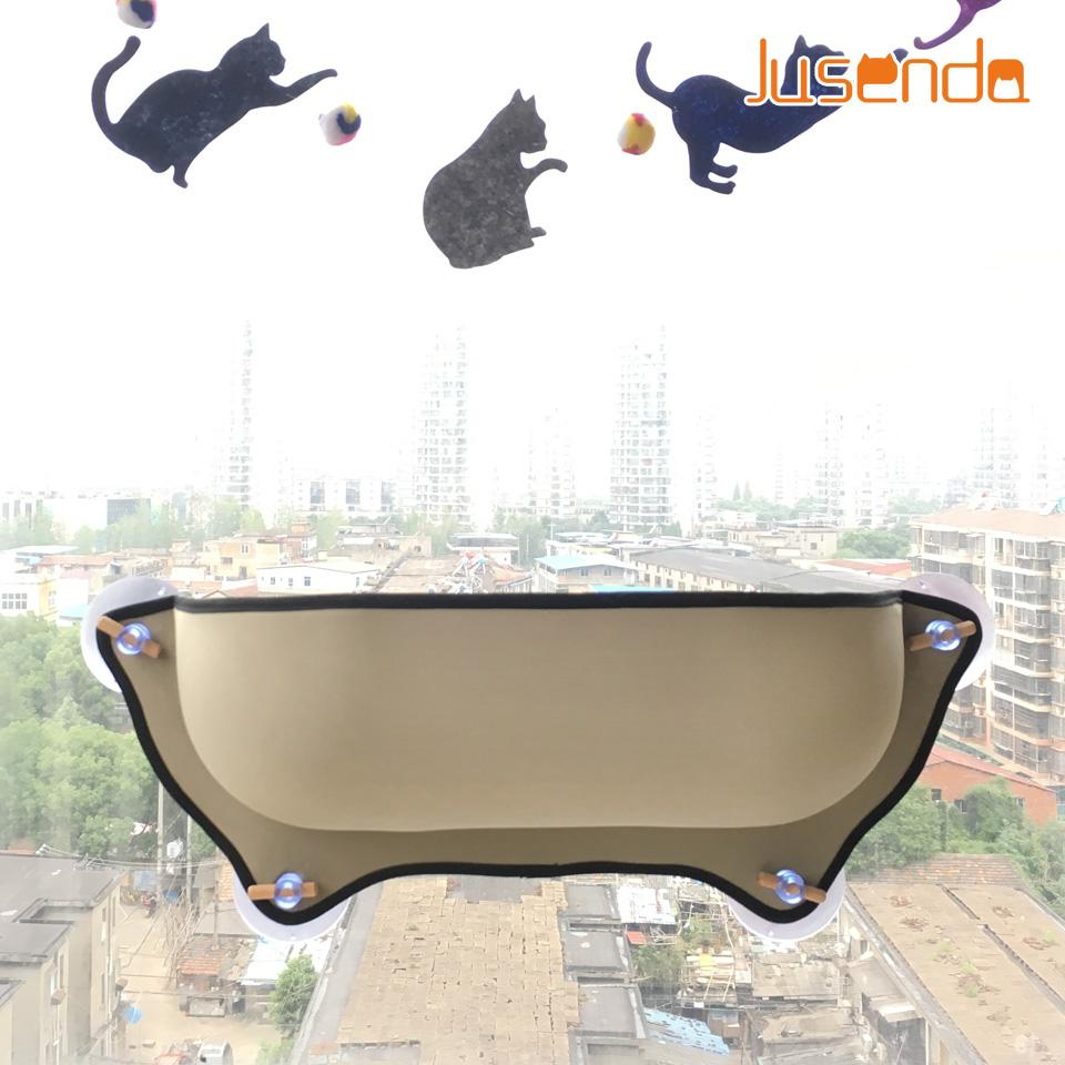 Cat Window Bed Cat Lounger Bed Hammock Sofa Mat Lounger Perch Cushion Hanging Shelf Seat With Suction Cup For Ferret Chinchilla Cat Supplies