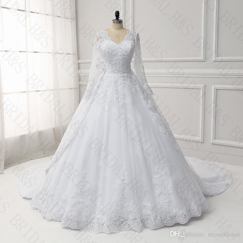 Acquista Vestito Da Cerimonia Nuziale Di Inverno Dell immagine Reale Dei Vestiti  Da Sposa Dell abito Di Sfera Del Vestito Da Cerimonia Nuziale Staccabile ... 3b65c9e7538