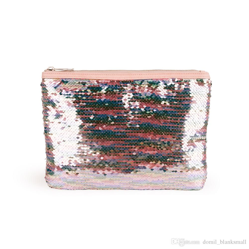 Wholesale Multi Glittery Hand Bag,Fashion Color Changing Sequin Pouch Young Lady Colorful Bling Glittery evening party Clutch DOMIL-856