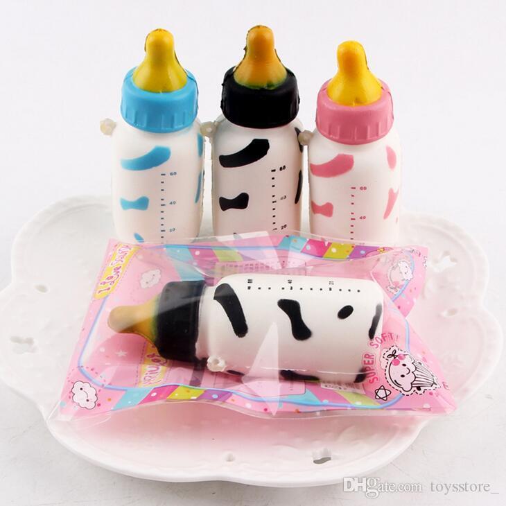 kids Squishy PU toys soft bottle character creative mobile phone pendant fashion mini cake educational toys