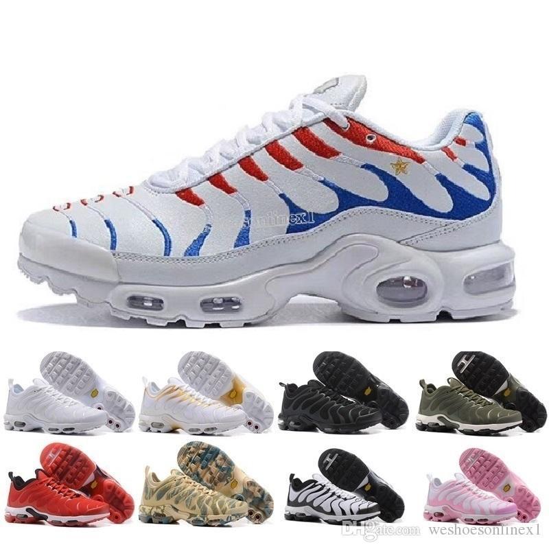 59e4e3e7490 VaNuevos Zapatos Deportivos Para Hombre De La Marca 2018 Nuevo Air Cushion  TN Para Hombre Negro Blanco Rojo Para Hombre Zapatillas De Deporte Para  Hombre ...