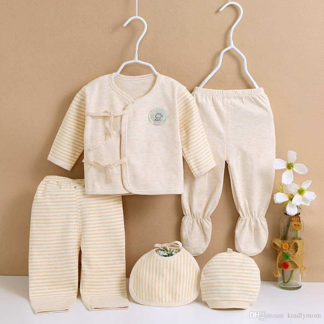 b050a058a34b 100% Nature Colored Cotton Jersey Baby Layette Sets Gift Sets ...