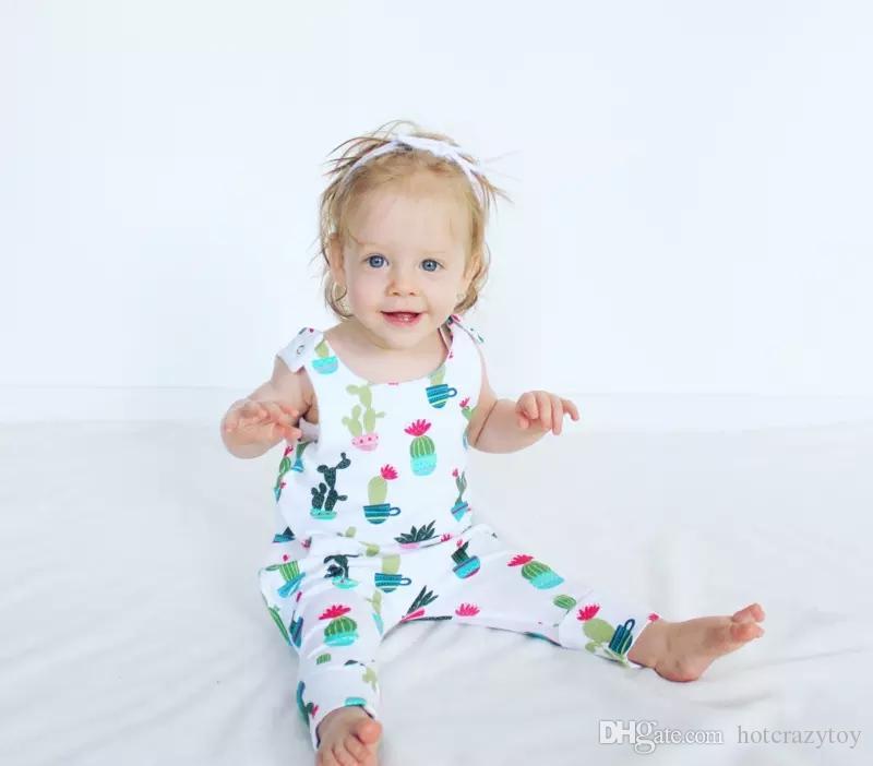 dc5e458e8 Newborn Baby Summer Cotton Clothing Toddler Baby Boy Girls Cactus ...