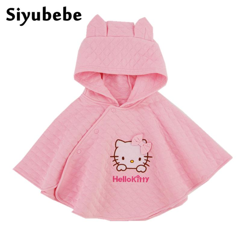 c297bc334a14 2016 Fashion Hello Kitty Kids Baby Girl Clothes Thick Cotton Cloak ...