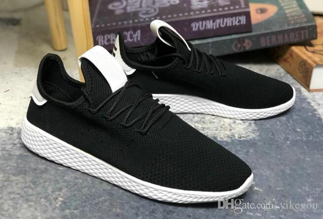 2019 Pharrell Williams Pw Tennis Hu White Green Running Shoes Mens Womens  Tennis Hu Sports Sneakers On Sale From Yikegou 876eded75
