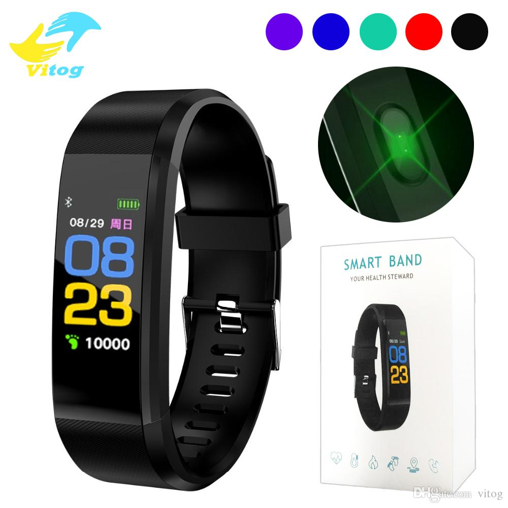 115 Plus Smart Wristband smart Bracelet Fitness Tracker 115plus Smart Band  Heart Rate Activity band Sport SmartWatch