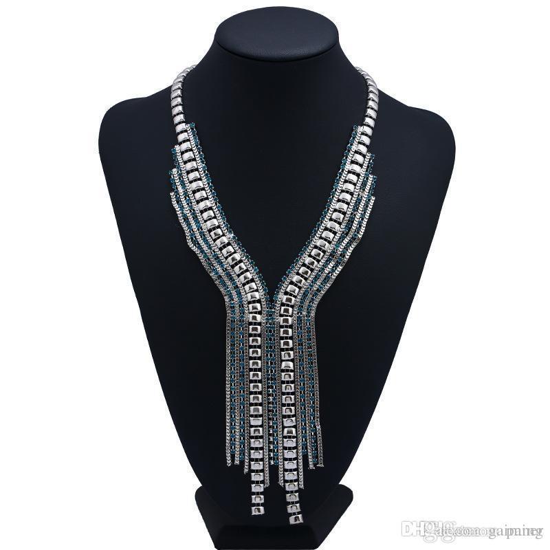 bbe5379ba0d9 Compre Venta CompletaNaomyZP Marca Borla Vintage Maxi Collar Llamativo Para  Las Mujeres Joyería De Moda Étnica Bohemio Boho Collar Gran Collar Grande A  ...