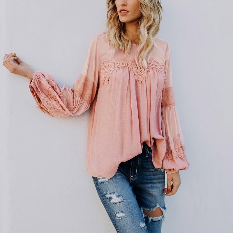 2019 Laamei 2018 Autumn Sexy Hollow Out Mesh Transparent Blouse Women Lace  Flower Shirts Blouse Women Long Sleeve Elegant Tops From Insideseam 620ba5a73103