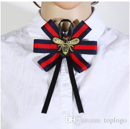 e72603fdb77c4 Women Bow Brooches Pin Bee Shape Trendy Broches Jewelry Bowknot Brooch  Vintage Collar Corsage Shirt Dress Jewelry Necktie tie