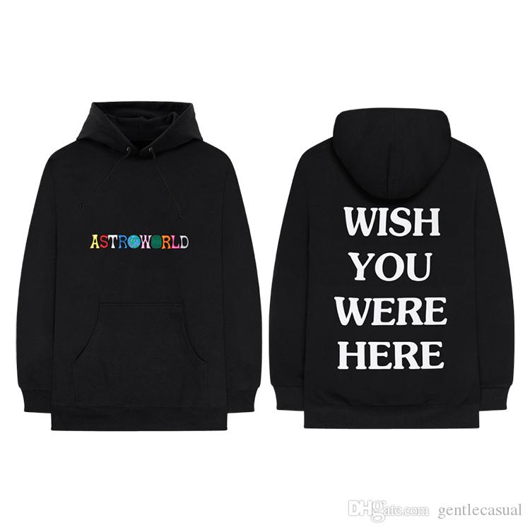 27285ebecd56d 2019 AW18 Brand New Kanye West Astroworld HoodieHigh Quality Embroidery  Sweatshirts Designer Pullover Hoodies Hip Hop Hoodie From Gentlecasual