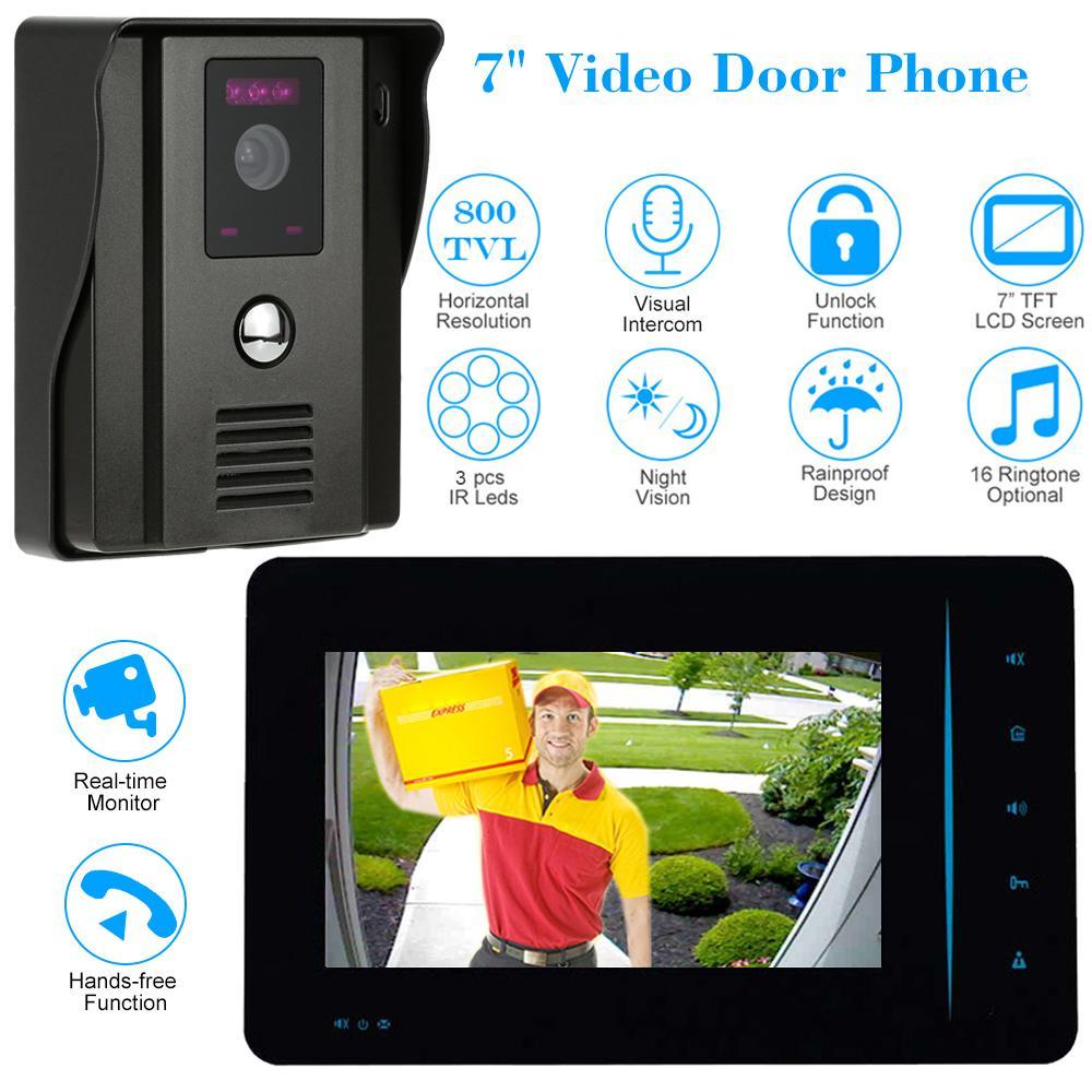 Großhandel 4 Draht 800tvl Video Türsprechanlage Türklingel Intercom