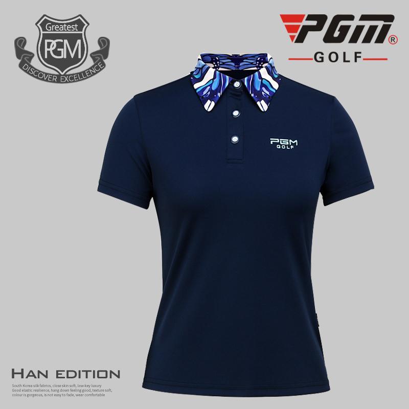 3434585be58ed Compre PGM Golf Polo Camiseta Mujer Marca Transpirable Seca Rápida Cuello  De Cobertura Profesión Mujer Golf Deporte Camiseta Corta Ropa A  46.27 Del  ...