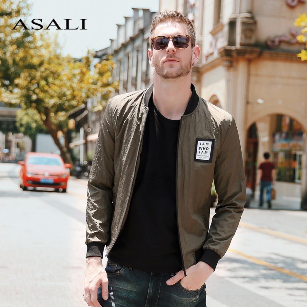 Asali Fashion Brand Jacket Men 2018 New Trend College Slim Fit