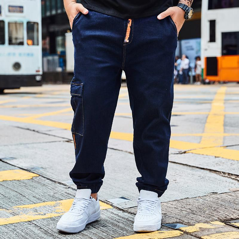 6859c310cde Hot Sale 2018 Autumn Pocket Jeans Men Casual Slim Trousers Stretch ...