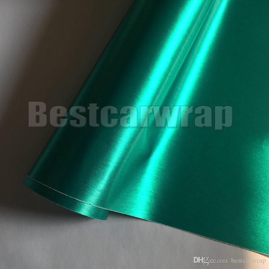 Тиффани Монетный Двор матовый хром винил матовый Для автомобиля обернуть с воздушным пузырем бесплатная щетка автомобильная упаковка стайлинг фольга покрытие: 1.52 * 20 м / рулон 5x66ft
