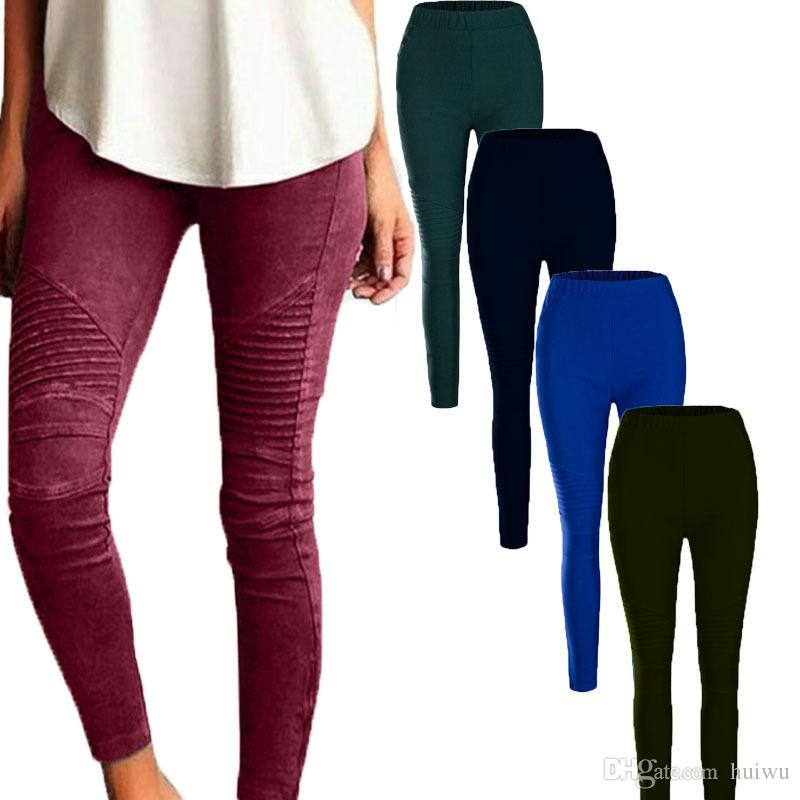 0a63c9ff228e 2019 Women Pants Plus Size Casual High Waist Stretch Pencil Pants Women Slim  Fit Ladies Skinny Trousers Dropshipping From Huiwu
