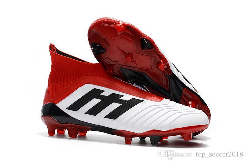 Compre Envío Rápido Blanco Rojo Botas De Fútbol Originales Messi Soccer  Cleats Laceless Predator 18+ FG Soccer Shoes Botas De Fútbol Para Hombres A   54.37 ... 5f7b0bf914e15