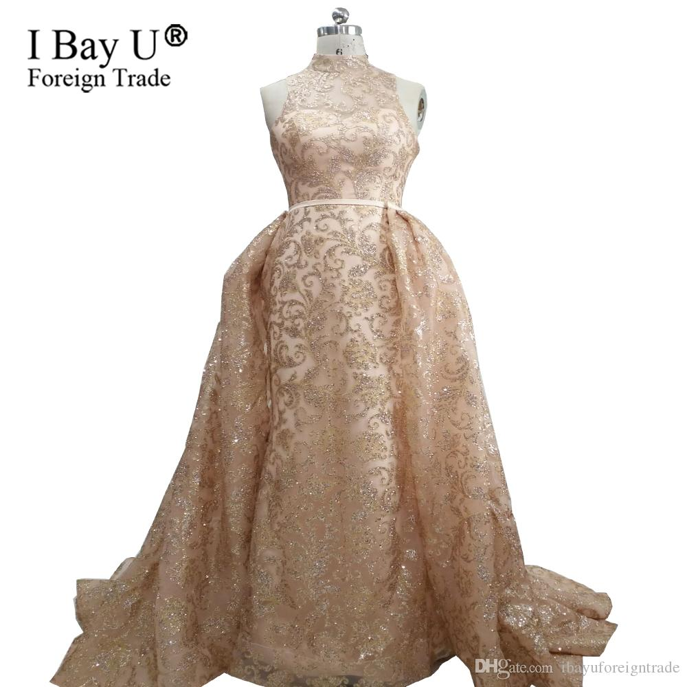 Real Photos Luxury Glitter Long Evening Prom Dress 2018 New Arrival
