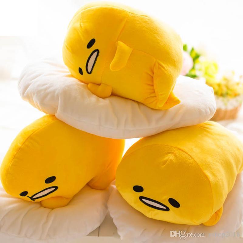650330363d1 2019 Cute 40 30cm Gudetama Lazy Egg Egg Jun Plush Toy Yolk Brother Large  Pillow Lazy Balls Stuffed Doll For Children Friend Gift From Eshop2018