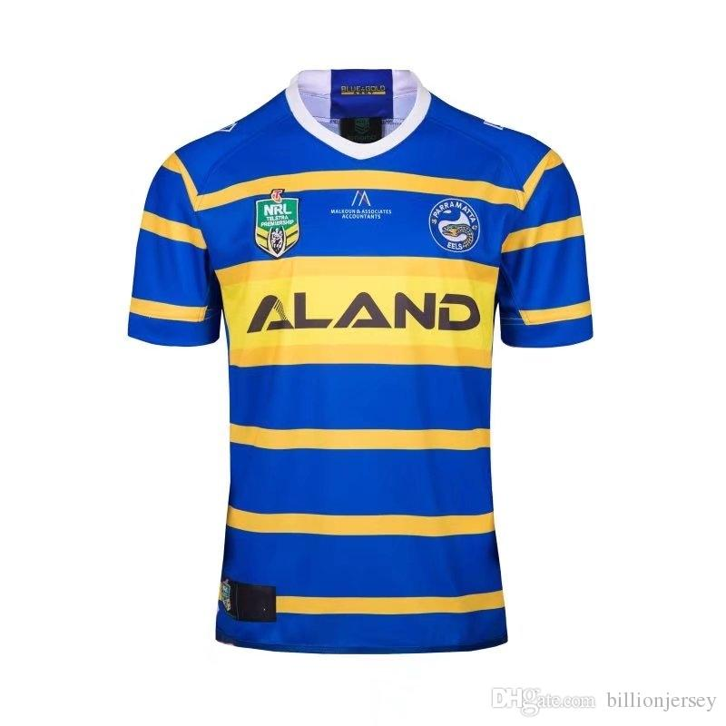 579db403b77 2018-19 NRL Jerseys EELS HOME Rugby Jerseys Rugby T-shirt New ...