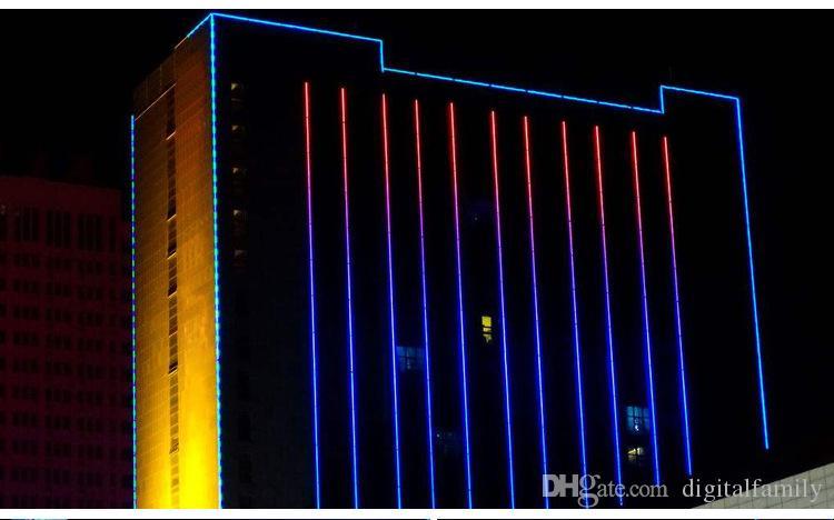 RGB AC 110V Neon Rope Strip Strip 50 mètres extérieur étanche 5050 SMD Light 60LEDs / M avec ALIMENTATION Découpable à 1 mètre