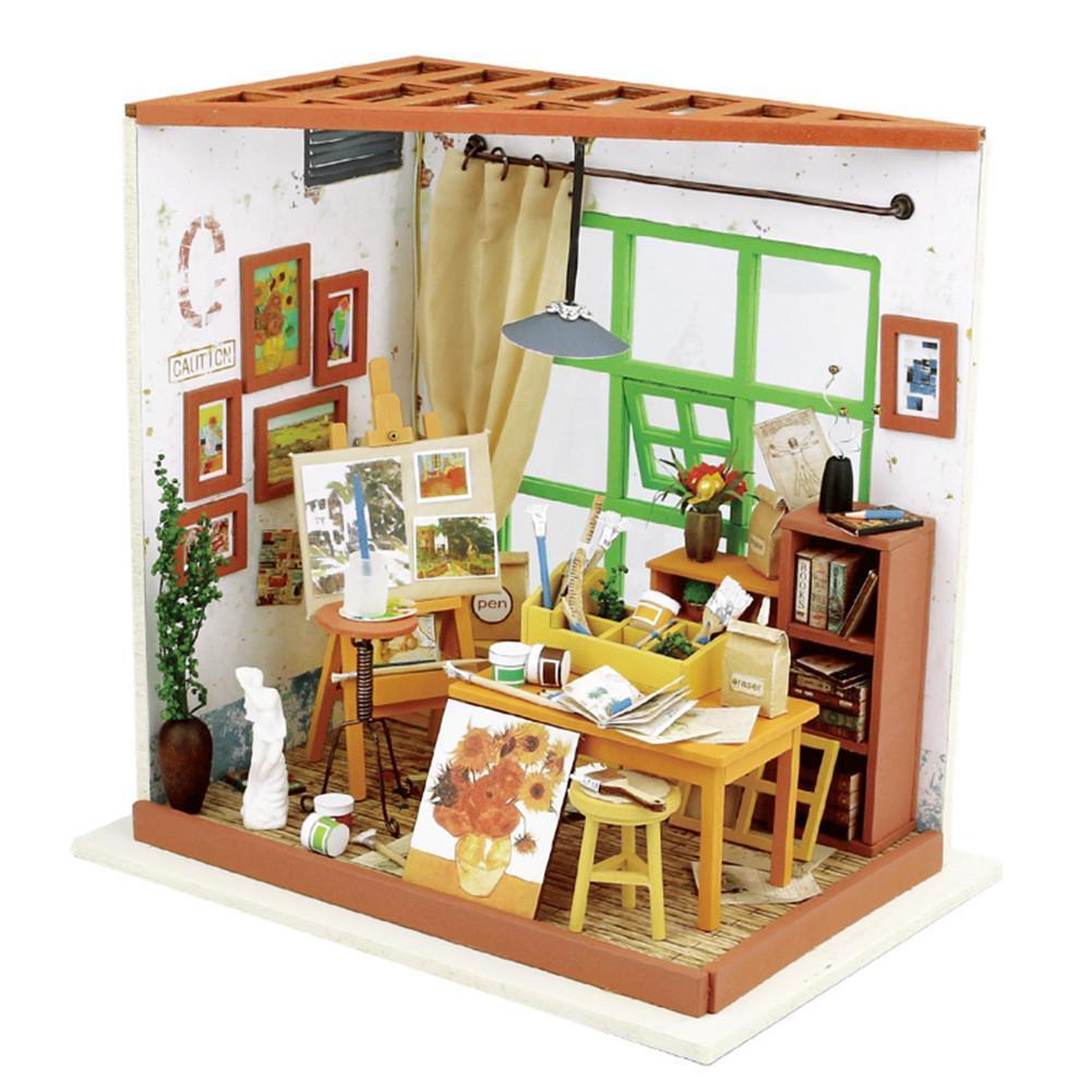 Diy Miniature Ada S Studio Doll House Model Building Kits Dollhouse
