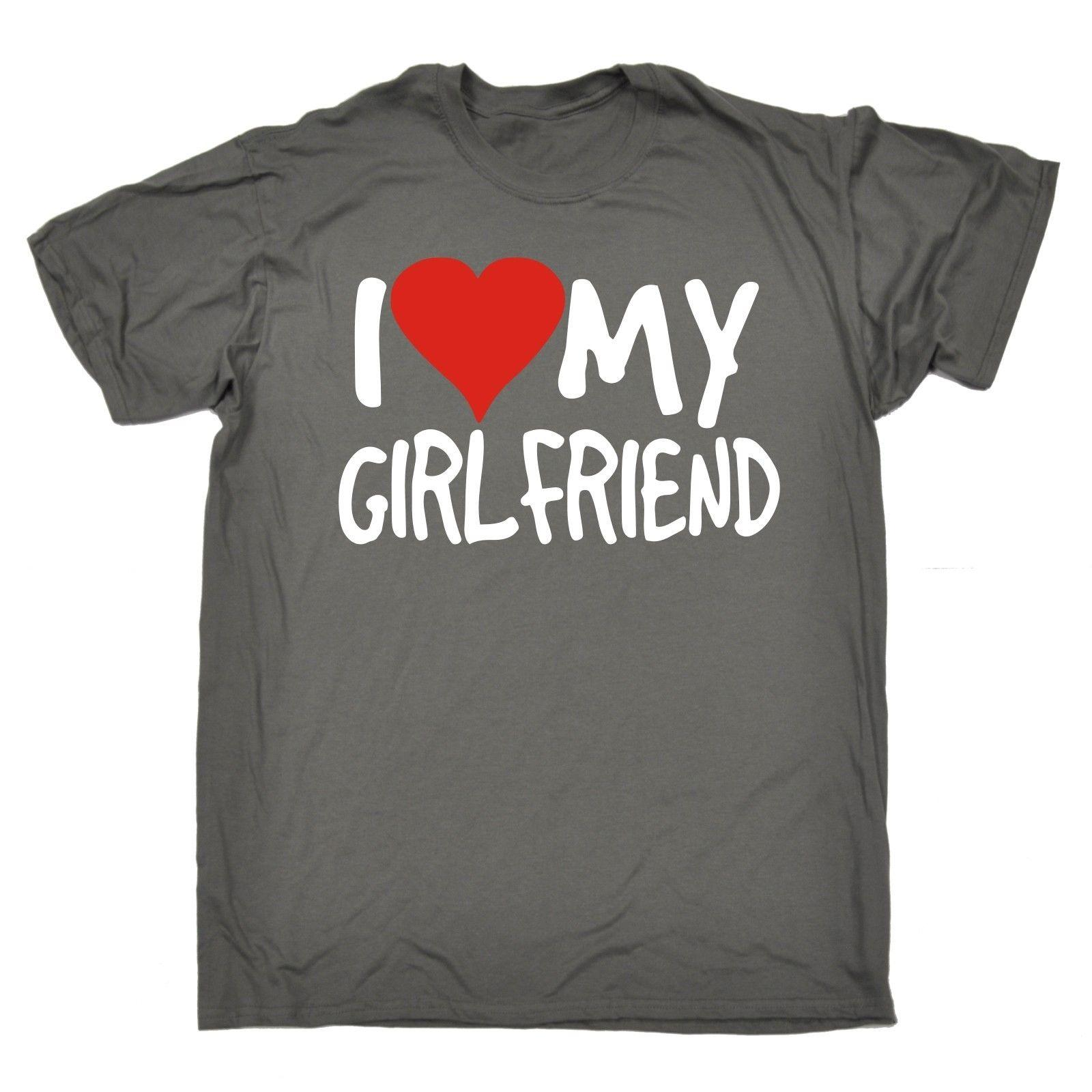 Funny Mens T Shirts Love My Girlfriend SHIRT Boyfriend Dating Present Birthday Cool Designs Pt From Brawtees 1101